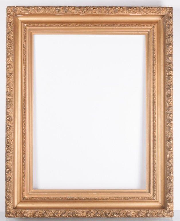 """37-1/2"""" x 29-5/8"""" Gessoed & Gilt Frame"""