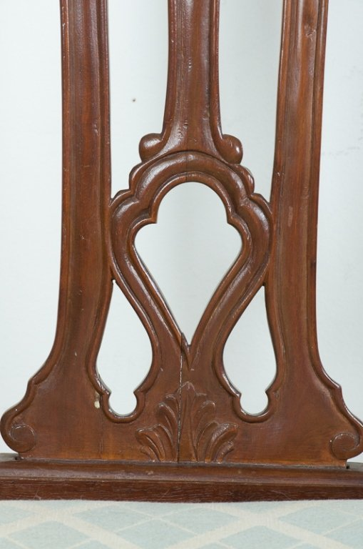 Carved Mahogany Side Chairs, Pair - 6