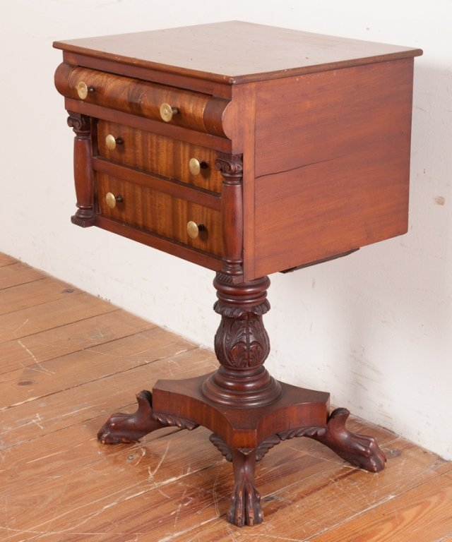 Empire Acanthus Flame Mahogany Table