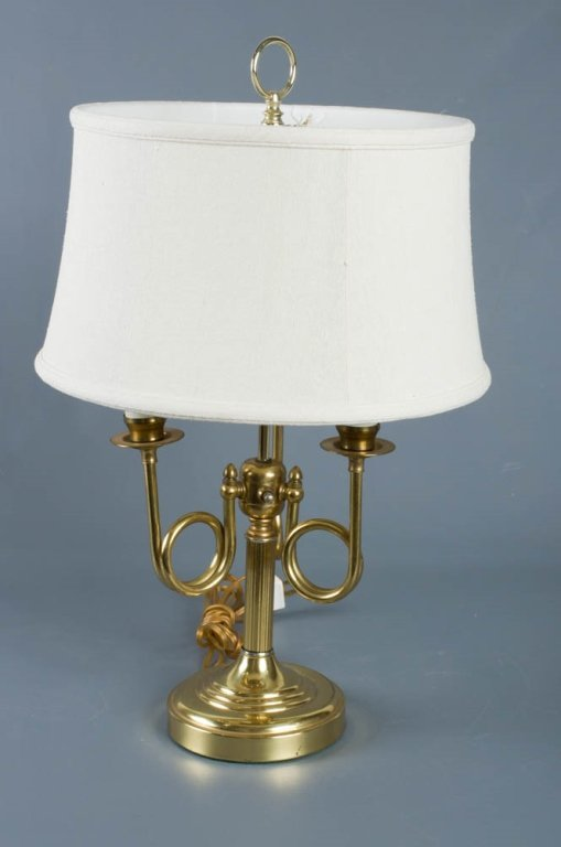 Brass Horn Arm Table Lamp