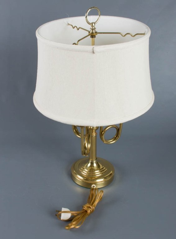 Brass Horn Arm Table Lamp - 3