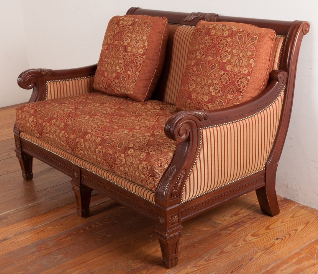 Najarian Furniture Empire Style Loveseat