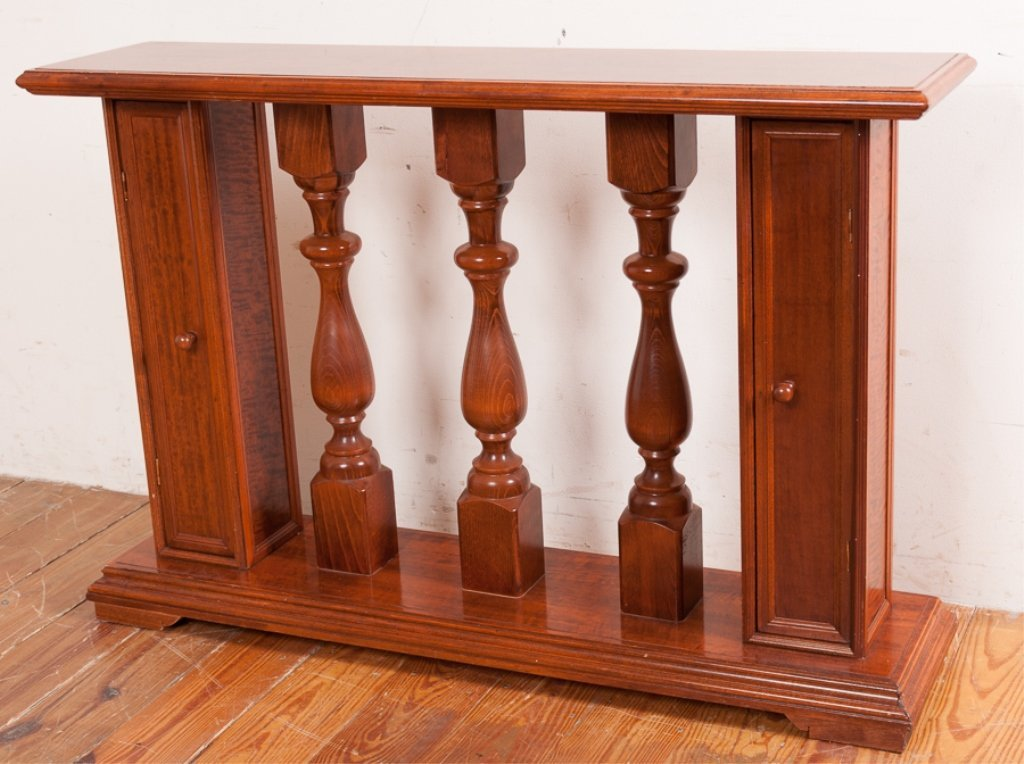 Columned Banister Style Console Table