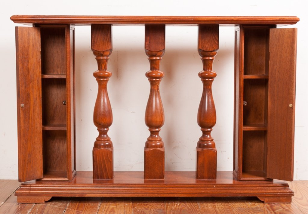 Columned Banister Style Console Table - 2