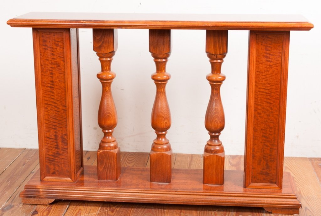 Columned Banister Style Console Table - 7
