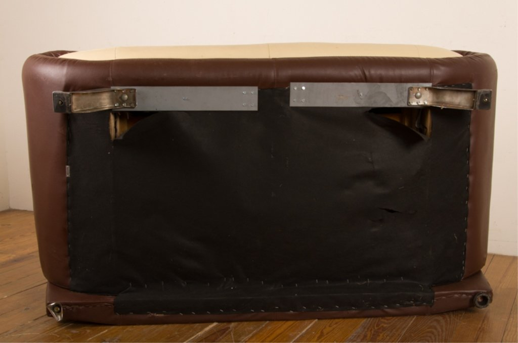 Leather Two-Toned Contemporary Loveseat - 6