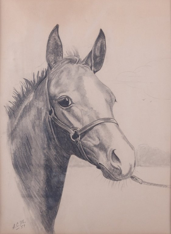 Lois Church Equestrian Drawings, Three (3) - 7