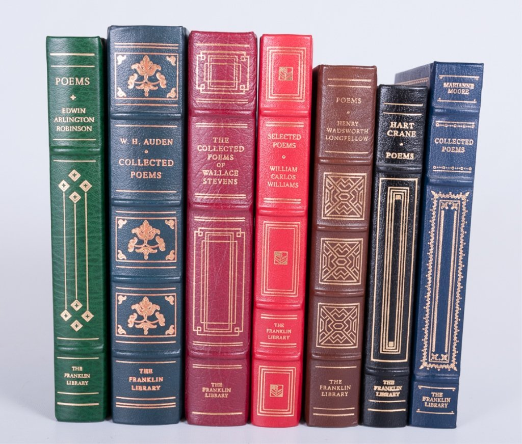 Franklin Library Leather Bound Books, Seven (7)