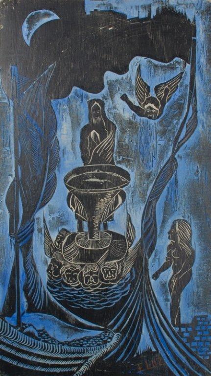 Edison Benicio da Luz Woodblock Carving