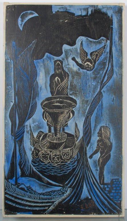 Edison Benicio da Luz Woodblock Carving - 2