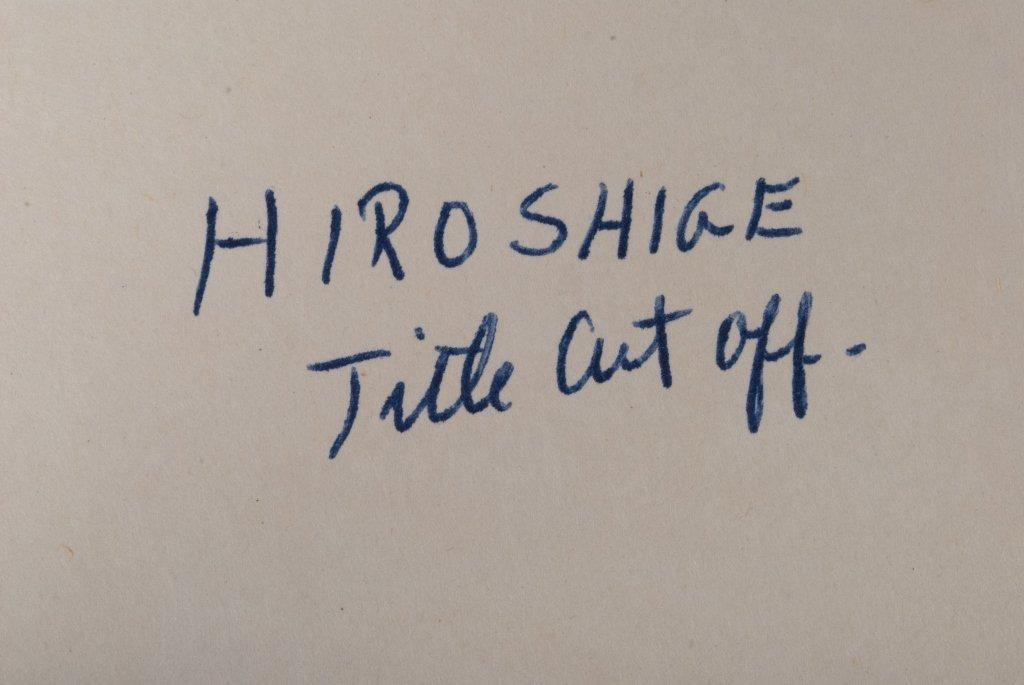 Hiroshige & Chikanobu Woodblock Prints, Three (3) - 9