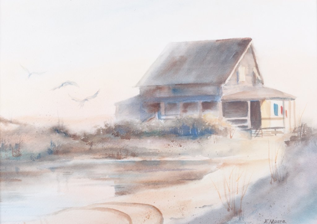 "Elizabeth Moore ""Last Night it Rained"" Watercolor - 2"