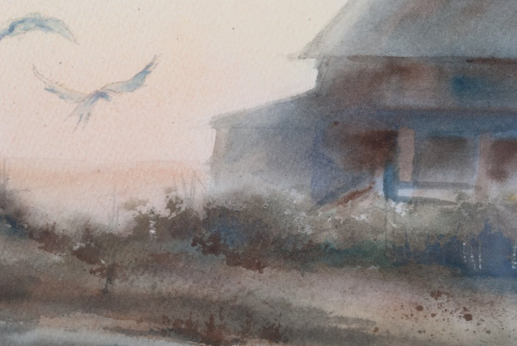 "Elizabeth Moore ""Last Night it Rained"" Watercolor - 4"