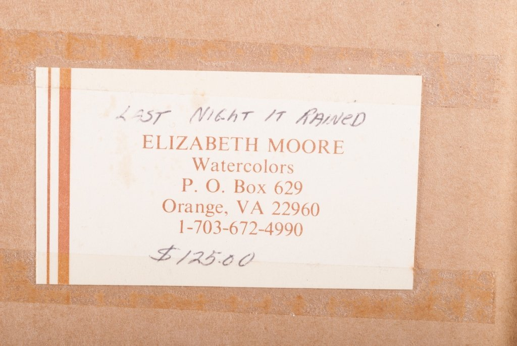 "Elizabeth Moore ""Last Night it Rained"" Watercolor - 7"
