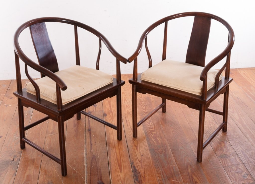Baker Furniture Asian Style Mahogany Chairs
