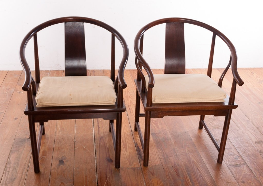Baker Furniture Asian Style Mahogany Chairs - 2