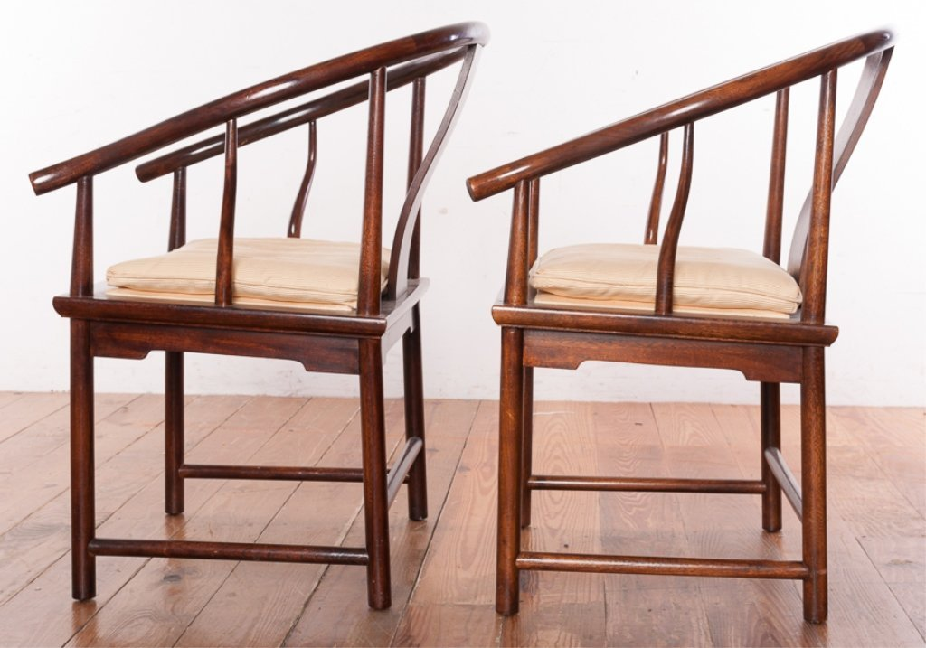 Baker Furniture Asian Style Mahogany Chairs - 4