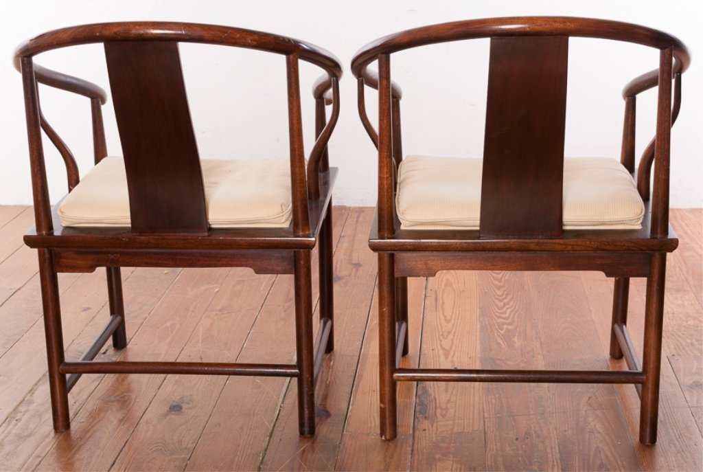 Baker Furniture Asian Style Mahogany Chairs - 5