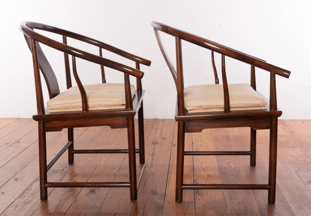 Baker Furniture Asian Style Mahogany Chairs - 6