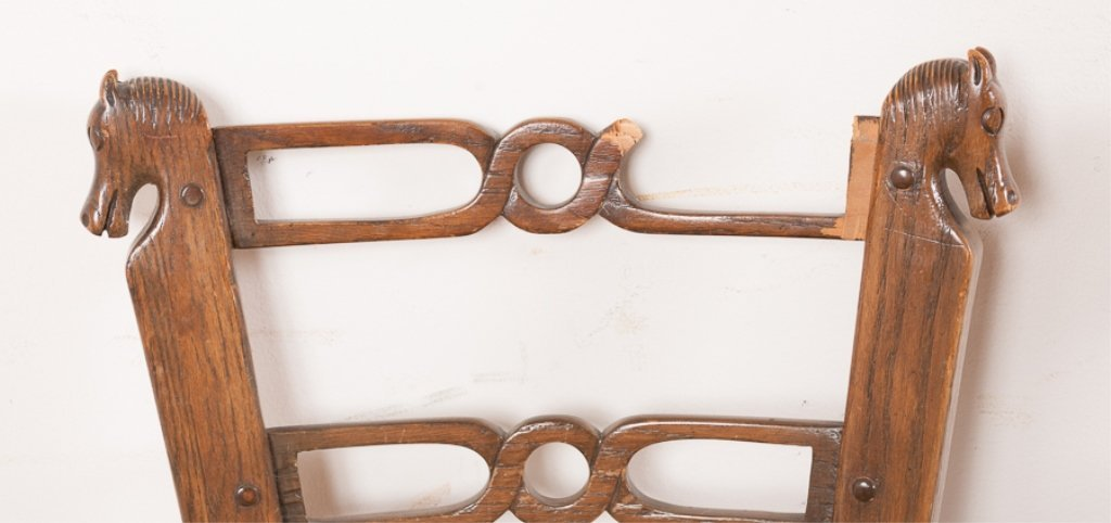 Romweber Viking Oak Game Table & Chair Set - 10