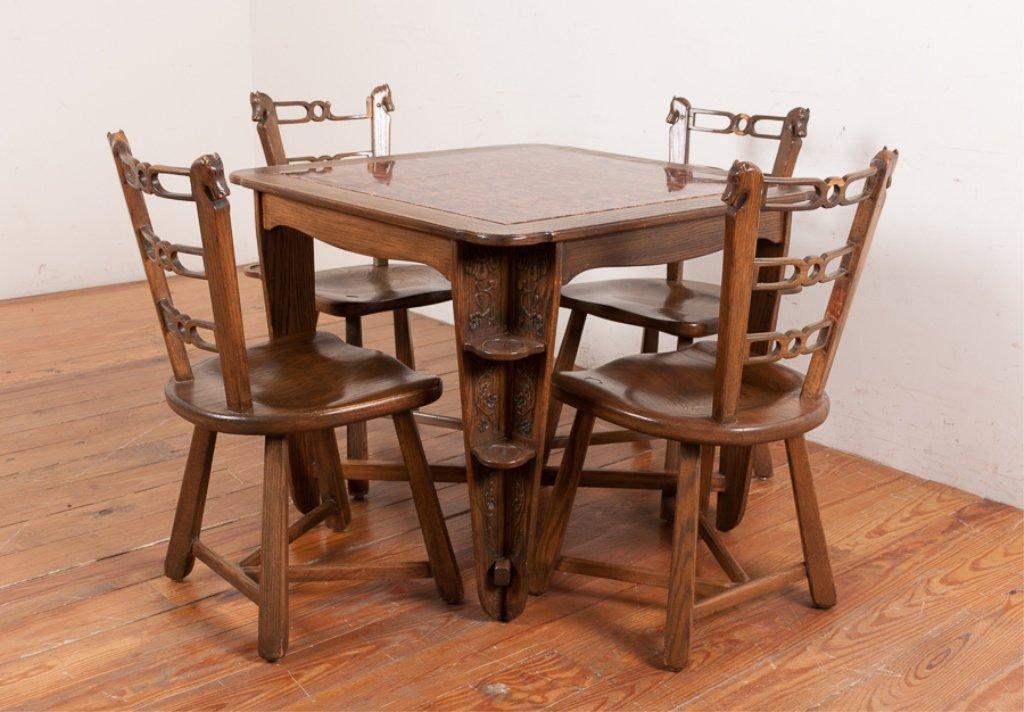 Romweber Viking Oak Game Table & Chair Set