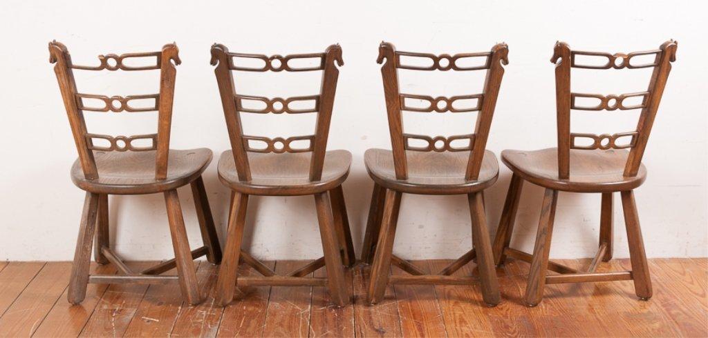 Romweber Viking Oak Game Table & Chair Set - 3