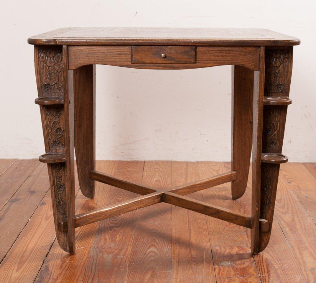 Romweber Viking Oak Game Table & Chair Set - 6