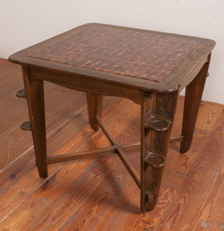 Romweber Viking Oak Game Table & Chair Set - 8