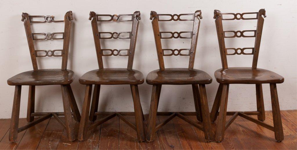 Romweber Viking Oak Game Table & Chair Set - 9