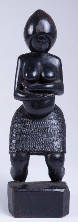 """Vivaldo Santos """"Negra Do Congo"""" Wood Carved Figure"""