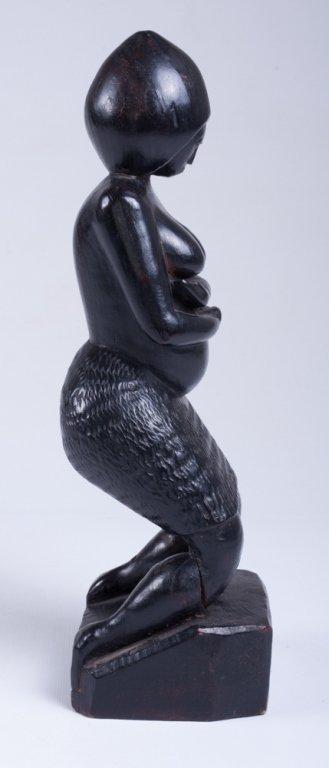 """Vivaldo Santos """"Negra Do Congo"""" Wood Carved Figure - 2"""