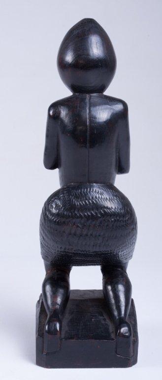 """Vivaldo Santos """"Negra Do Congo"""" Wood Carved Figure - 3"""