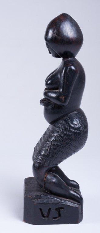 """Vivaldo Santos """"Negra Do Congo"""" Wood Carved Figure - 4"""