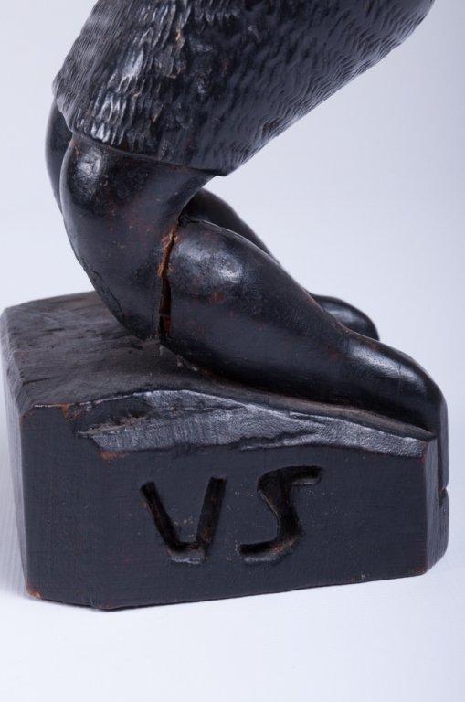 """Vivaldo Santos """"Negra Do Congo"""" Wood Carved Figure - 5"""