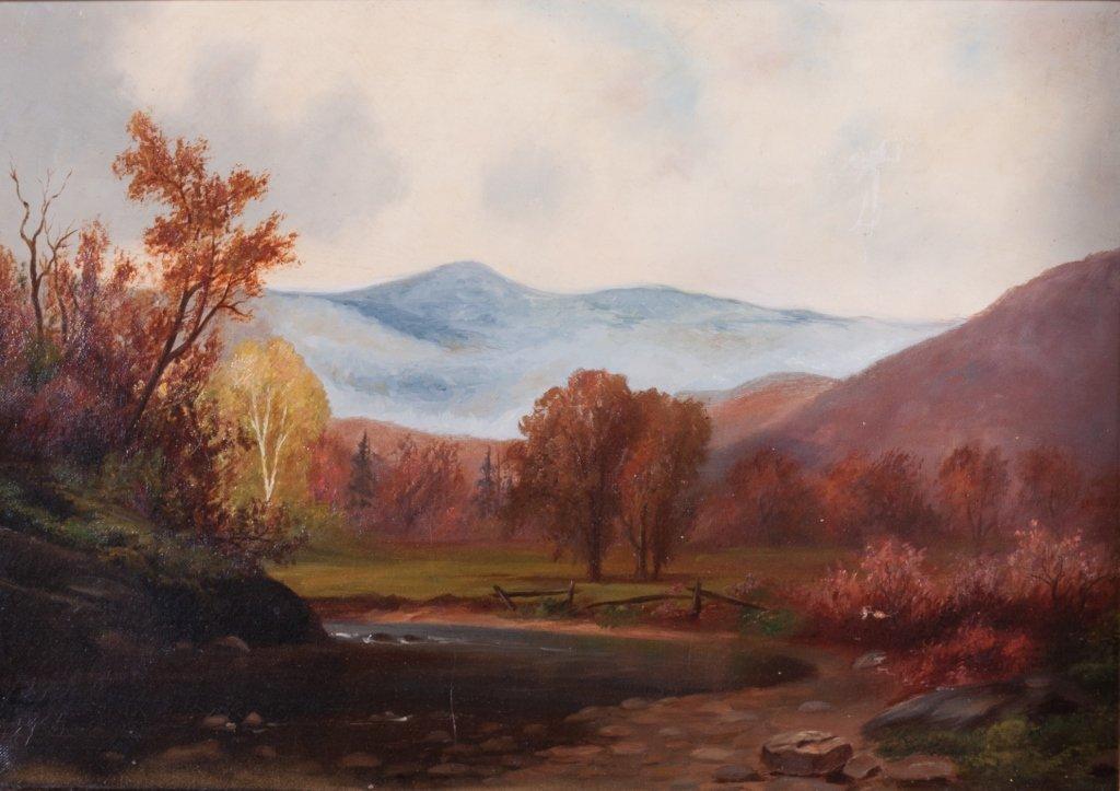 Mountain Landscape Oil On Canvas
