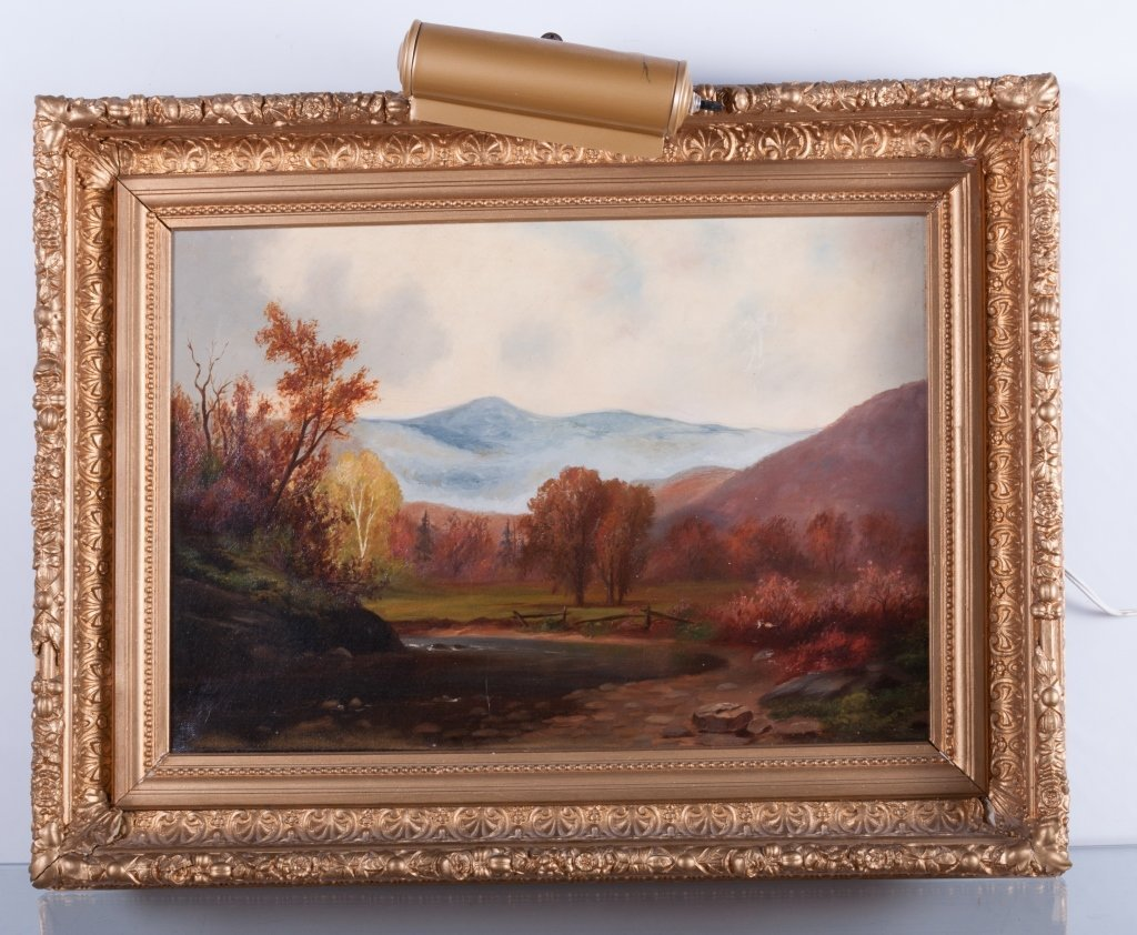 Mountain Landscape Oil On Canvas - 2