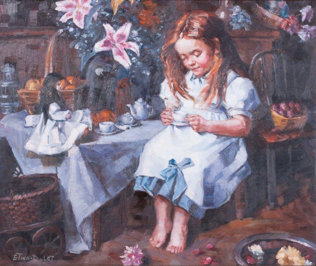 Etine-Dolet Oil on Canvas Portrait