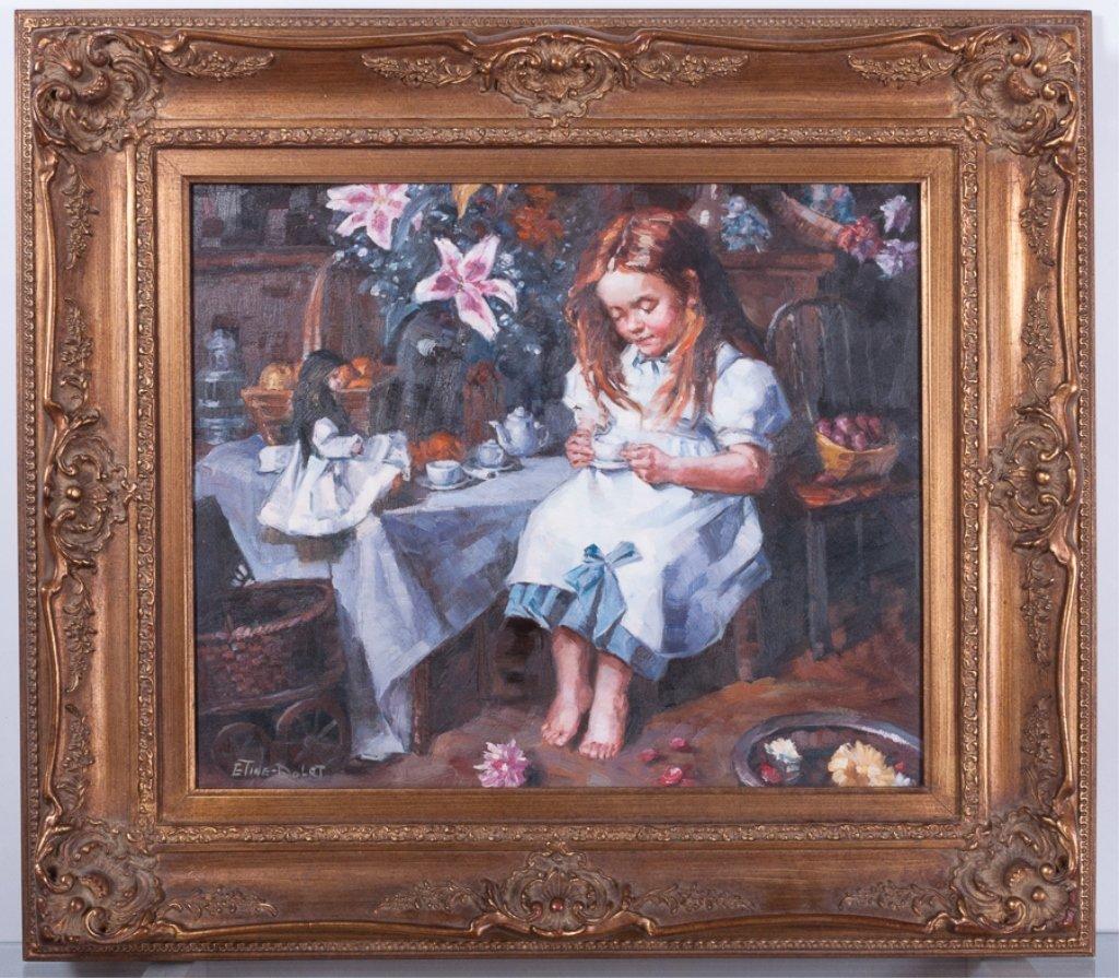 Etine-Dolet Oil on Canvas Portrait - 2