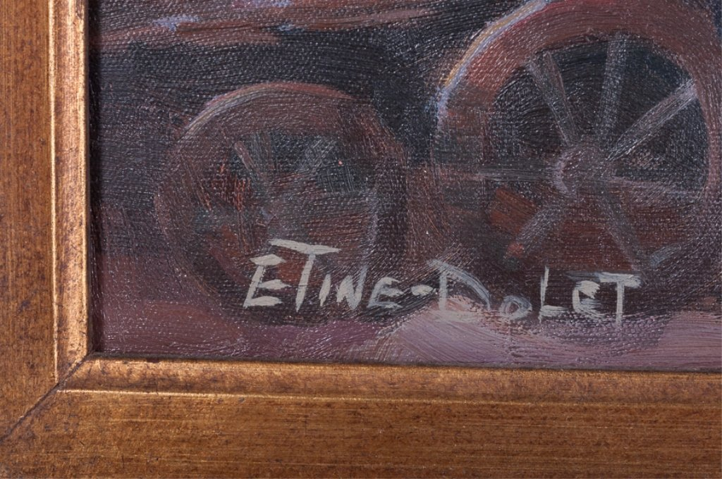 Etine-Dolet Oil on Canvas Portrait - 3