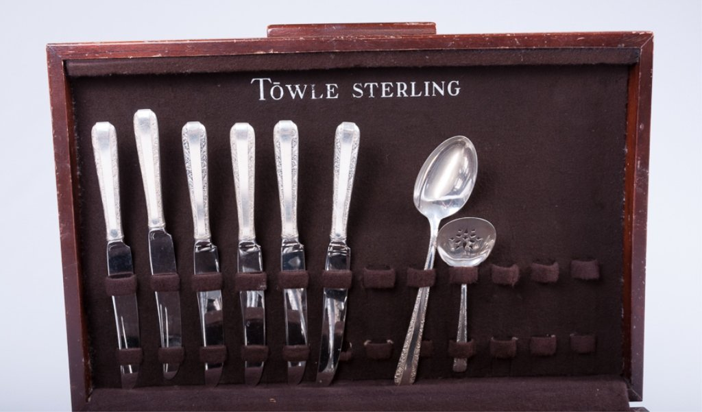 "Towle Sterling Silver ""Candlelight"" Flatware - 4"