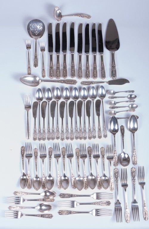 "Westmorland 6/"" Cream Soup Spoon  Milburn Rose Pattern Sterling Silver No Mono"