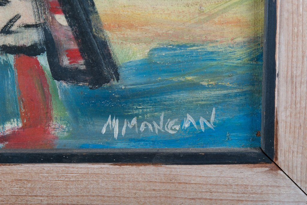 "Margaret Mangan ""Hopi Kachinas"" Masonite Painting - 3"