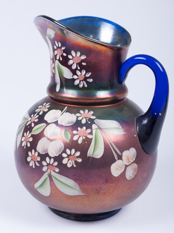 Hand-Painted Iridescence Glassware Group - 4
