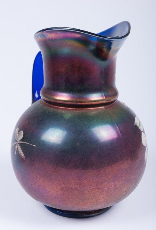 Hand-Painted Iridescence Glassware Group - 5