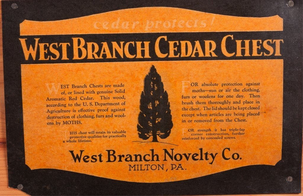West Branch Novelty Company Cedar Chest - 6