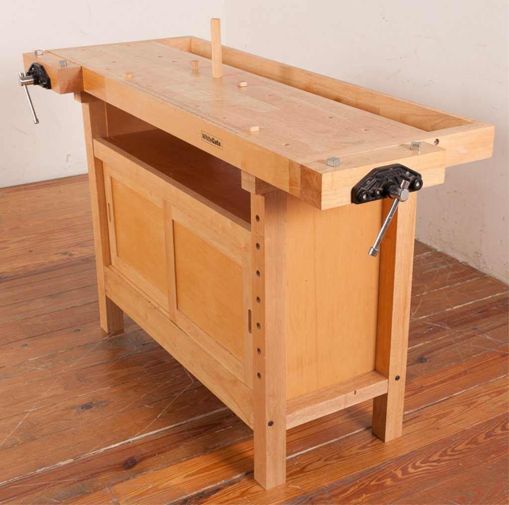 White Gate Double Vise Woodworking Bench