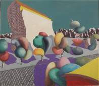 Frances Wismer Modernist Acrylic Painting