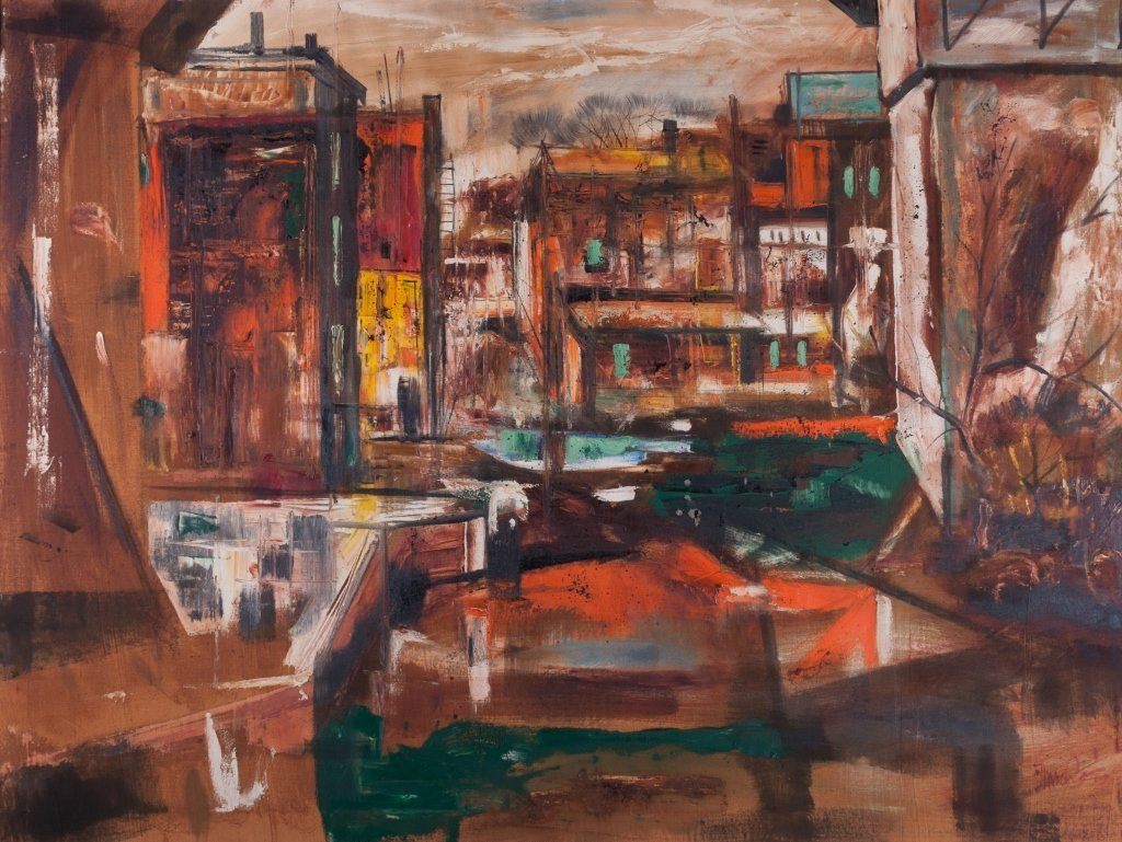View of Brooklyn Oil on Canvas