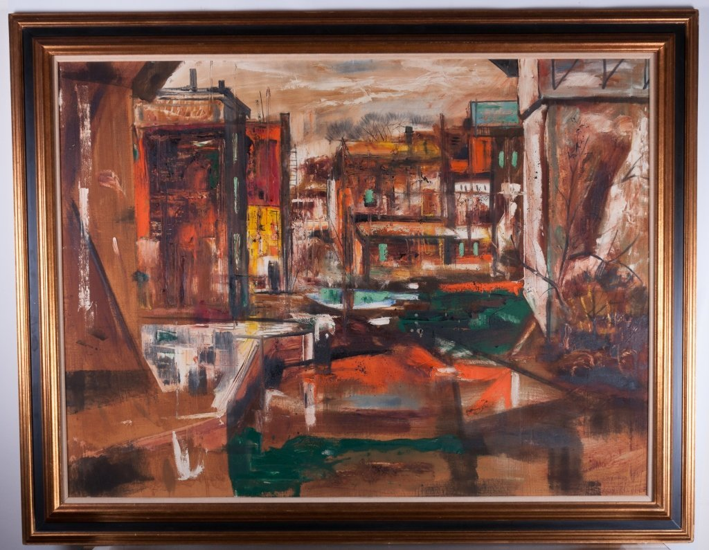 View of Brooklyn Oil on Canvas - 2