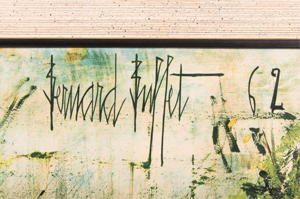 """Bernard Buffet """"Somme River Lock"""" Chromolithograph - 3"""